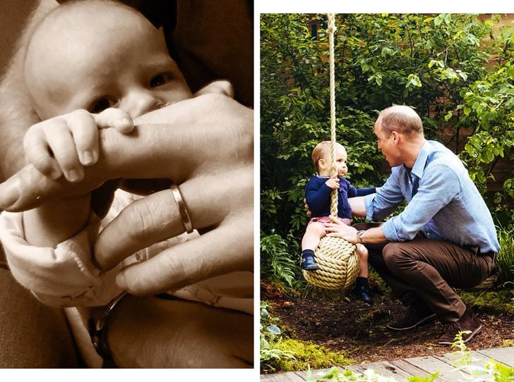 Фото №1 - Как принцы Гарри и Уильям отметили День отца