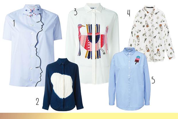 Фото №2 - Топ-10: Рубашки с принтами и нашивками