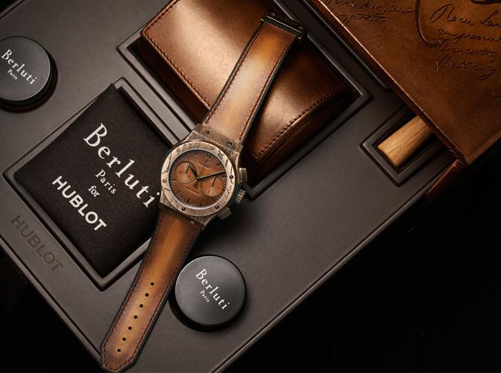 Фото №1 - Коллаборация класса «люкс»: Hublot и Berluti представили совместную модель часов