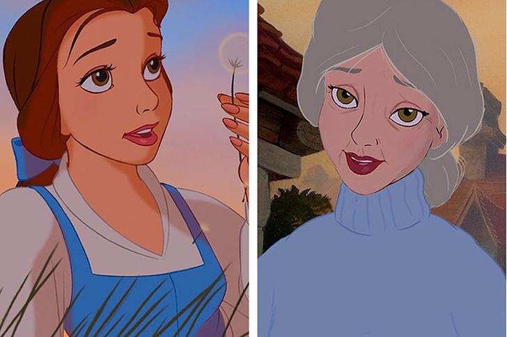 Фото №3 - Как принцессы Disney выглядели бы в старости?