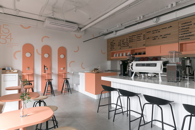 Фото №7 - Кофейня 40 м²в Калуге: проект студии Design Rocks