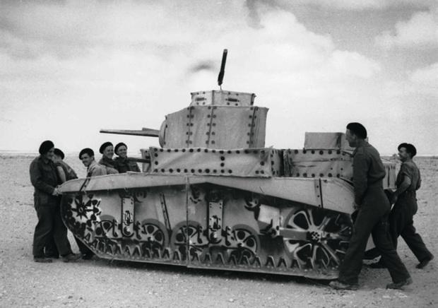 Макет танка, Вторая мировая война