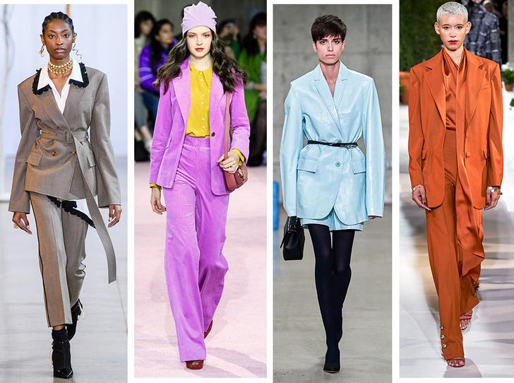 Фото №1 - От классики до сочных красок: лучшие костюмы с Недели моды в Нью-Йорке