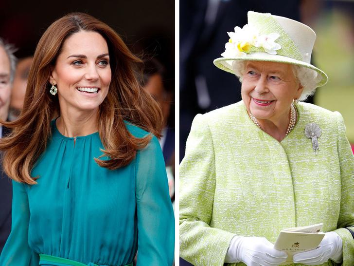 Фото №1 - Модная привычка, которую Кейт пришлось перенять у Королевы