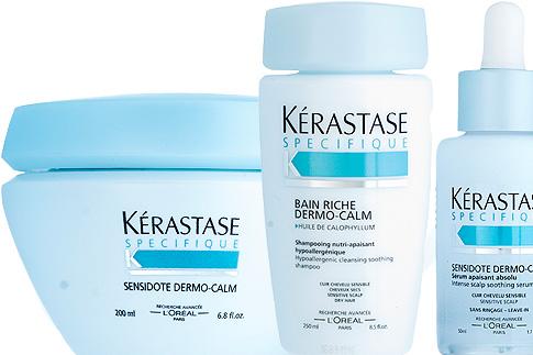 Линия для чувствительной кожи головы Kerastas