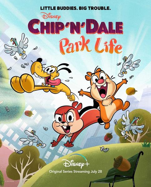 Фото №1 - Disney показал заставку перезапуска мультфильма «Чип и Дейл»