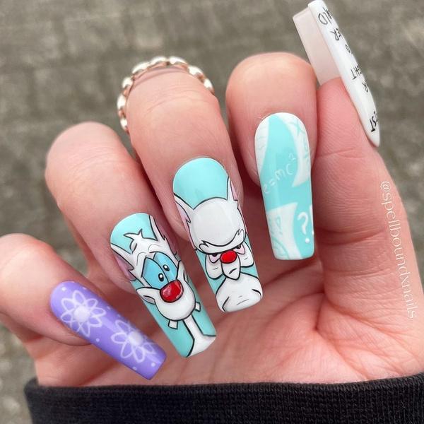 Фото №6 - Позалипать и вдохновиться: 45 крутых идей маникюра для длинных ногтей 💅