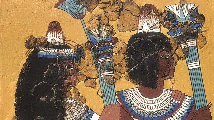 Фото №1 - В Египте обнаружены захоронения с загадочными конусами на головах умерших