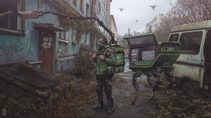 Фото №2 - Футуристическая Россия на самоизоляции глазами питерского мастера киберпанка