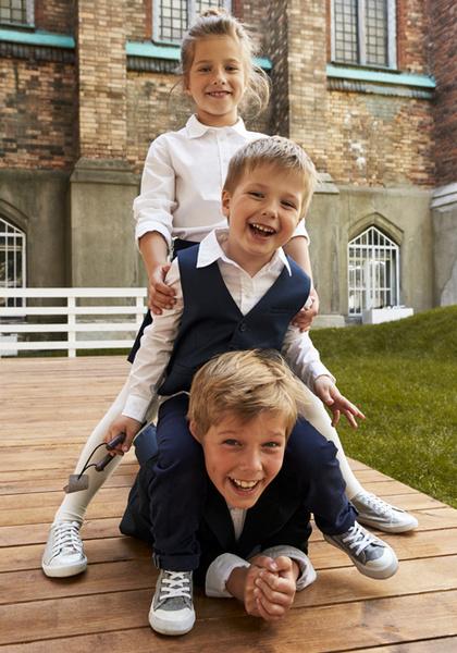 Фото №6 - Артём, Яна и Арсений Аршавины в рекламе школьной формы H&M