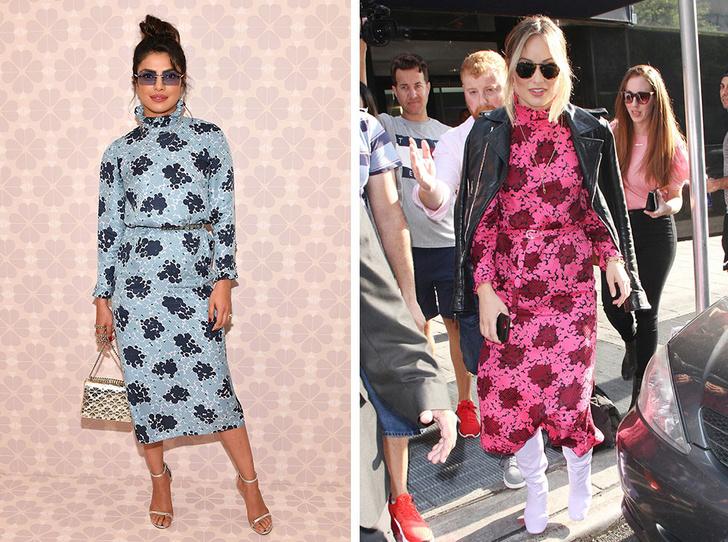 Фото №8 - Битва платьев: как выглядят звезды с разными фигурами в одинаковых нарядах