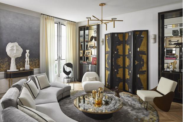 Фото №1 - Квартира с элементами нового ар-деко в Париже