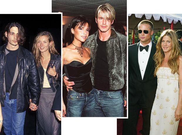 Фото №1 - Самые стильные звездные пары 90-х