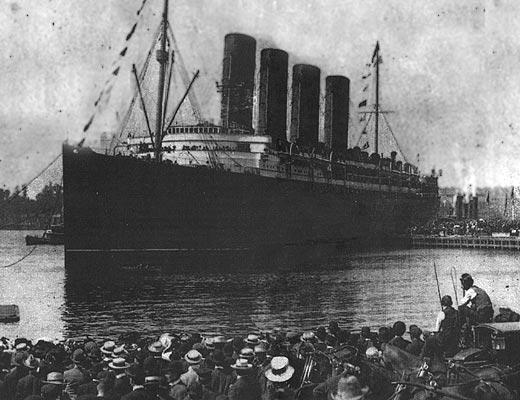 Фото №1 - Последнее плавание «Лузитании»