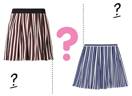 Фото №1 - Дорого-дешево: плиссированная юбка в полоску