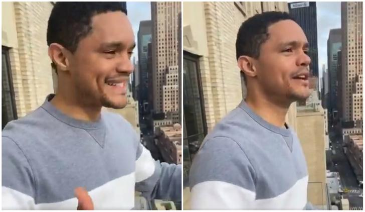 Фото №1 - Комик пытался повторить итальянский флешмоб с пением с балкона в Нью-Йорке, но был быстро возвращен к реальности