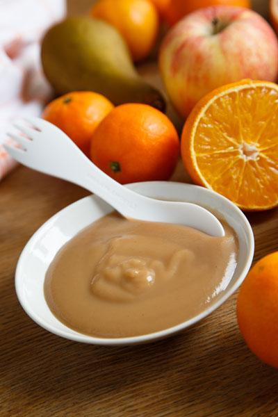 Пюре яблочно-апельсиновое с киви