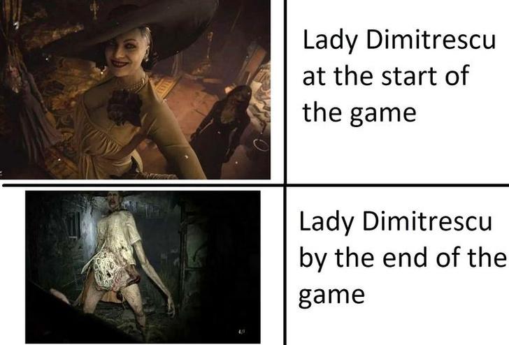 Фото №8 - Самые угарные мемы про Леди Димитреску из новой части «Resident Evil» 🔥