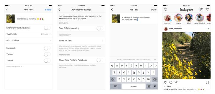 Фото №1 - Обновление в Инстаграме: какая функция поможет слабовидящим смотреть фотографии