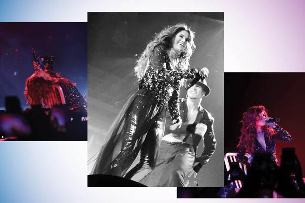 Селена Гомес на концерте в Лас-Вегасе в рамках тура Revival