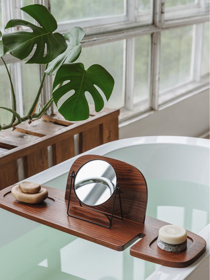 Фото №1 - Полка для ванной: дизайн Анны Струпинской для Amovino