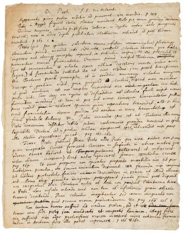 Фото №1 - Рукопись Ньютона о чуме продана на аукционе