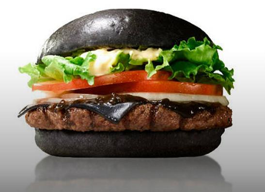 Фото №1 - В меню японского Burger King появился «черный» бургер