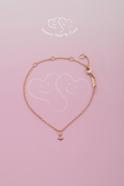браслет, розовое золото, розовый сапфир, сердце, happy hearts, благотворительность, Chopard, Петра Немкова