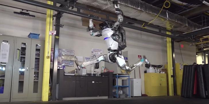 Фото №1 - Робот Атлас, кажется, готовится к олимпийским соревнованиям по гимнастике (видео)