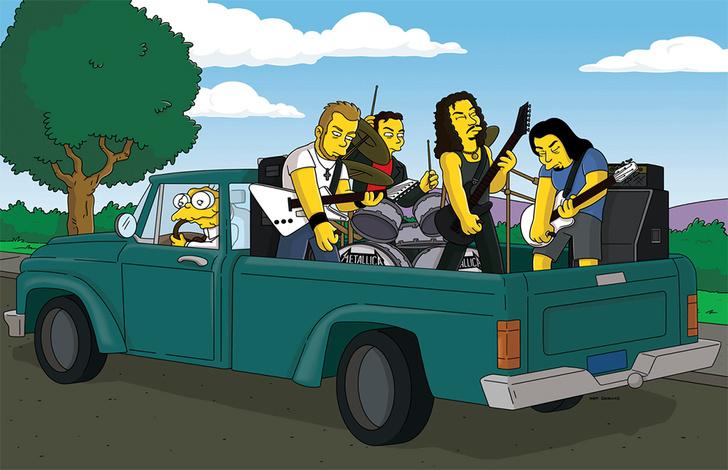 Фото №1 - 10 лучших явлений рок-групп в «Симпсонах» (видео)