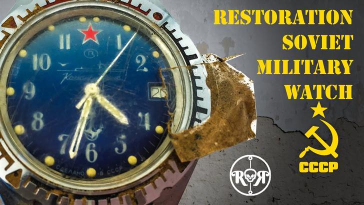 Фото №1 - Немецкий мастер умело реставрирует советские командирские часы (завораживающее видео)