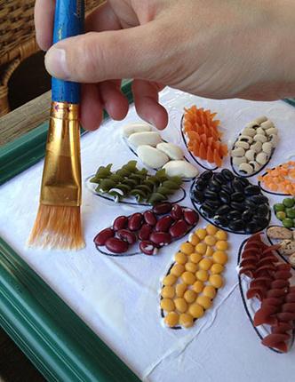 Фото №2 - Крашеные макароны и рис