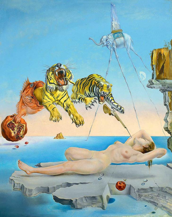 Фото №1 - Дали по Фрейду: «Сон, вызванный полетом пчелы...» с точки зрения психоанализа