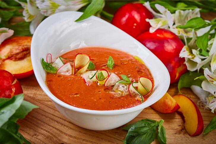 Фото №4 - Каникулы под солнцем: рецепты ярких блюд с персиками, которые подают в ресторанах прямо сейчас