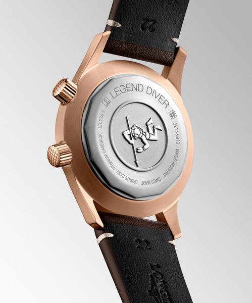 Фото №3 - Часы The Longines Legend Diver теперь доступны в бронзовом цвете
