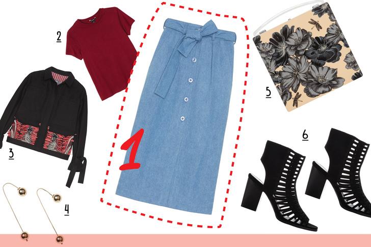 Фото №3 - С чем носить джинсовую юбку