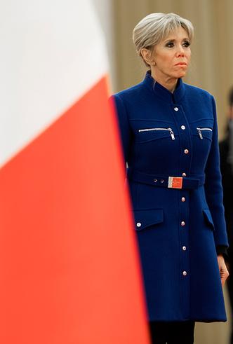 Фото №13 - Лучше, чем Мелания: 5 идеальных нарядов Брижит Макрон в Китае