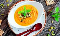 Тыквенный крем-суп с пореем