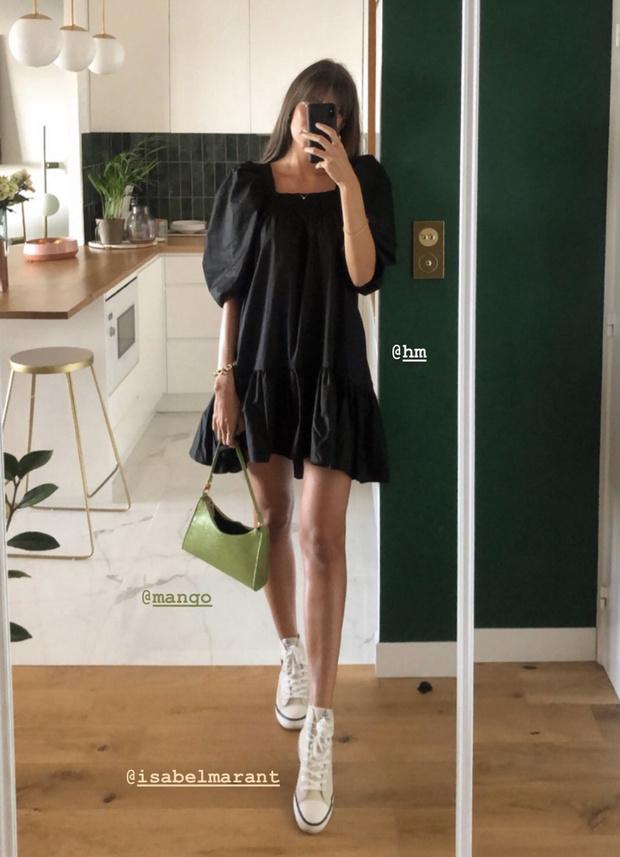 Фото №2 - Очень нежное розовое или черное «кукольное» платье? Дилемма эталонной француженки Жюли Феррери