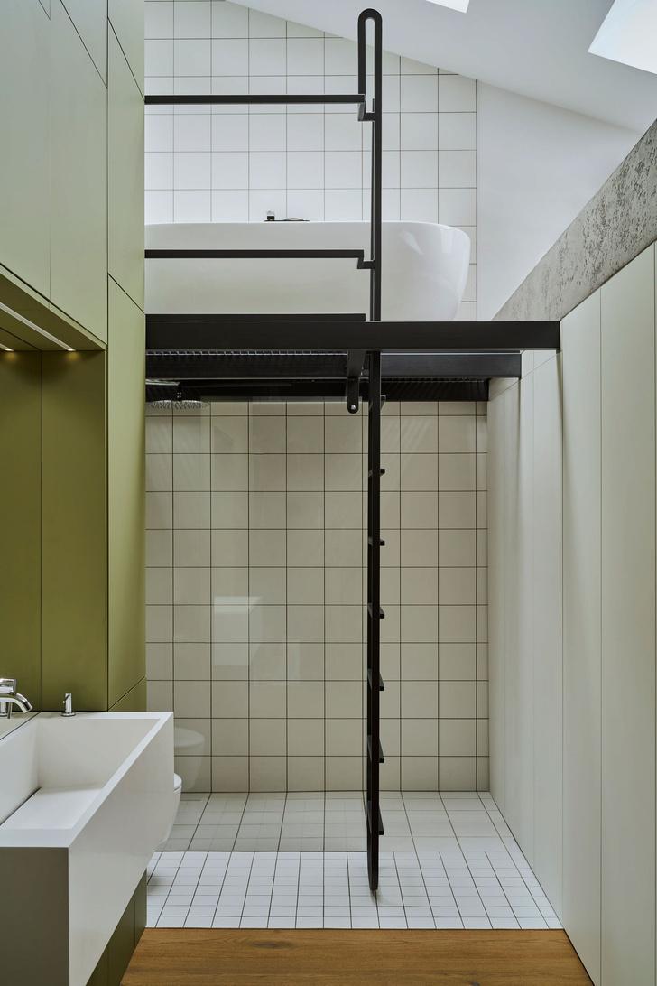 Фото №12 - Эклектичная квартира со спальней в мезонине в Познани