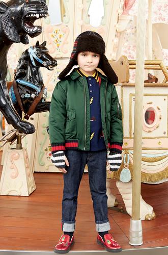 Фото №16 - Золотая карусель: лукбук осенне-зимней детской коллекции Gucci 2016/17