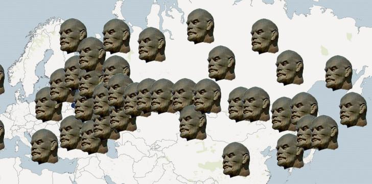 Фото №2 - Сайт, на котором собрано почти 10 тысяч памятников Ленину со всего мира