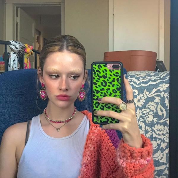 Фото №4 - Осветленные брови— летний тренд! Показывает Ким Кардашьян