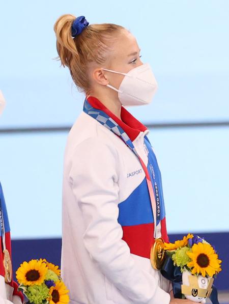 Фото №5 - Токио-2020: самые красивые прически гимнасток на Олимпиаде