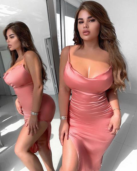 Фото №1 - Как платья и топы Квитко выглядит на худых моделях: 20 фото
