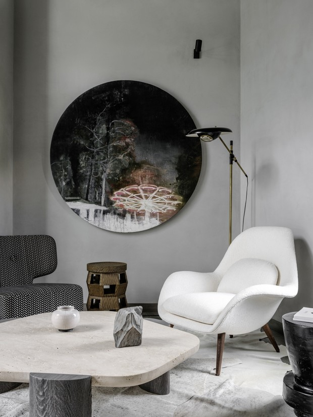 <p>Дом в Подмосковье. Проект Sisters` Design.</p>