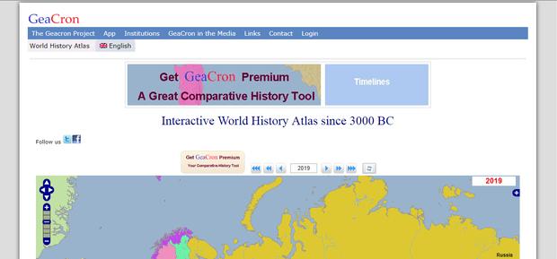 Фото №1 - Сайт дня: Интерактивная карта для путешествий во времени