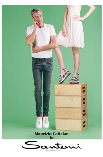 Фото №4 - Mamma mia: Маурицио Кателлан в рекламной кампании Santoni