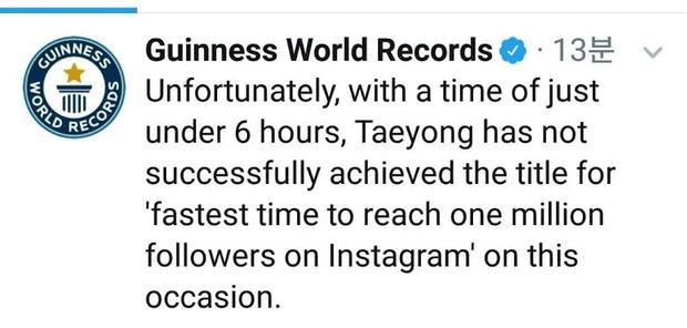 Фото №2 - Тэён из NCT 127 побил рекорд Руперта Гринта по достижению 1 млн фолловеров в Инстаграме