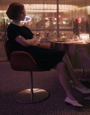 Фото №11 - Как Аня Тейлор-Джой: повторяем луки из сериала «Ход королевы»